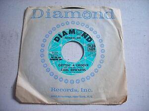 PROMO-w-SLEEVE-Carl-Edwards-Gettin-039-a-Groove-1976-45rpm-VG