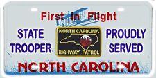 North Carolina Highway Patrol NOVELTY License Plate - Proudly Served