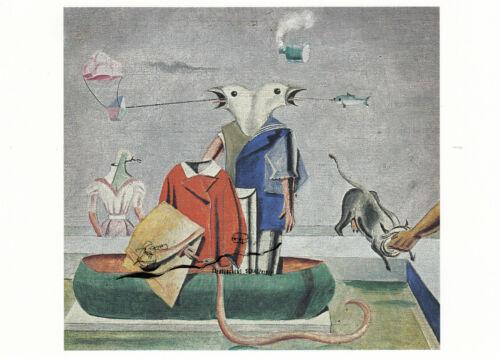Schlange Kunstkarte Vögel Fisch Max Ernst