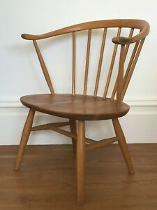 ERCOL-LOW-COWHORN-CHAIR-fireside-childrens-kids-2-available