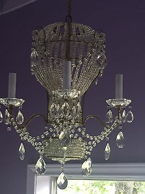 Balloon collection on ebay antique french hot air balloon chandelier macaroni beads crystal italian mozeypictures Choice Image