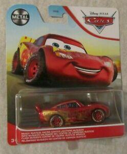 Disney Pixar Cars MUDDY RUST-EZE RACING CENTER LIGHTNING MCQUEEN ~ Metal ~ NIP