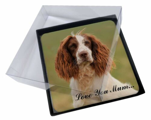 4x Springer Spaniel Dog 'Love You Mum' Picture Table Coasters Set i, ADSS77lymC