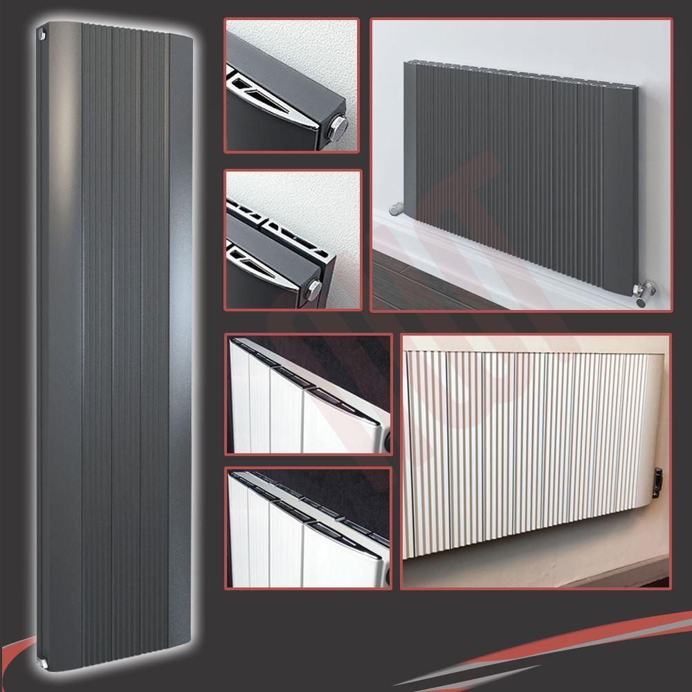 Aluminium Designer  Cariad  Weiß & Anthracite, Grünical & Horizontal Radiators