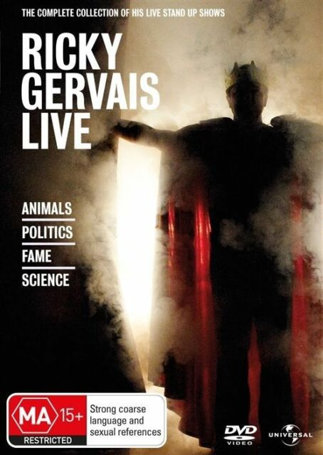 Ricky Gervais Live - The Complete Collection (DVD, 2011, 4-Disc Set)