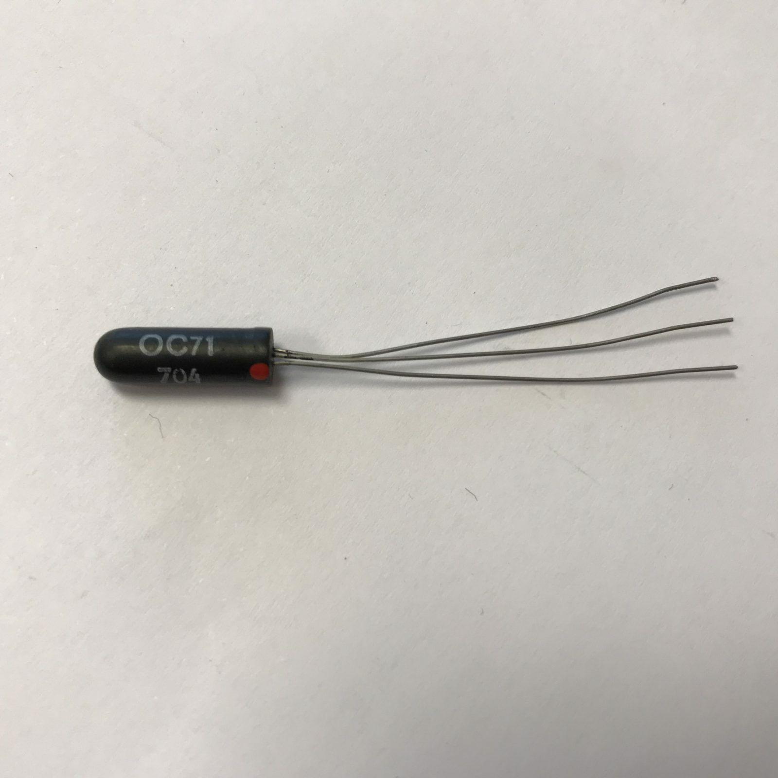 OC71 Germanium Transistor Hfe = 57 Iceo = 380uA Tested