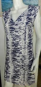 f59e45435b Details about Seed Heritage zebra print textured dress loose fit dress  summer size 6-8