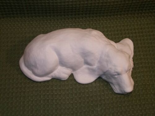 Ceramic Bisque Ready to Paint Basset Hound Lying Down