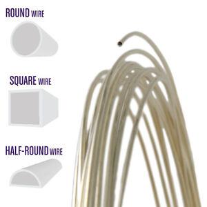 1M Sterling Silver Half Round 22 gauge Wire Jewellery Making