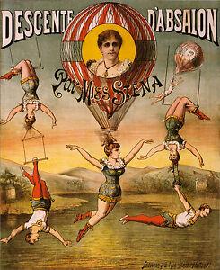 002-Vintage-Circus-Art-Poster-Descente-D-039-absalon