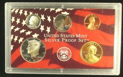 SAC Cent Kennedy ++ 2000 S Partial Silver Proof Set