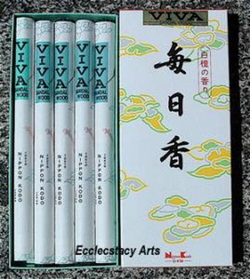 Nippon Kodo VIVA Mainichikoh Sandalwood Long Incense Stick 5 Rolls Mainichi-Koh