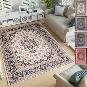 Traditional White Blue Grey Red Classic Rug Small Extra Large 10mm Pile Ebay