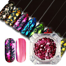 Chameleon Glitter Nail Art Flakes Sequins Powder Silver Red Irregular Paillette
