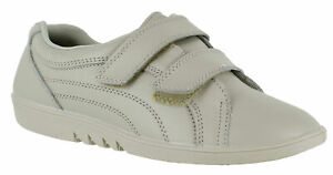 LADIES-STONE-LEATHER-TOUCH-STRAP-COMFORT-WASHABLE-CASUAL-SHOES-SIZES-3-8