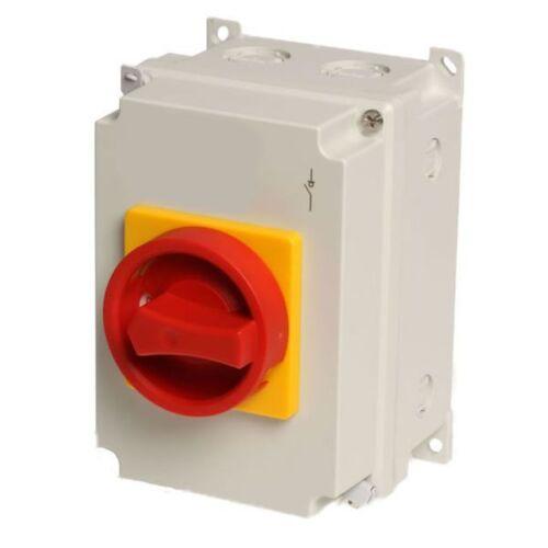 interrupteur 16 A 7,5 Kw Interrupteur principal nhs-16//4 arrêt d/'urgence 4 broches commutateur de réparation