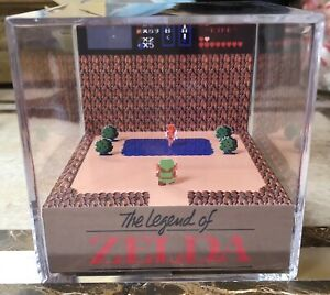 The-Legend-Of-Zelda-3D-Cube-Handmade-Diorama-Shadowbox-Nintendo-NES-Fanart