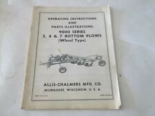 Allis Chalmers 9000 Series 5 6 7 Bottom Plows Operation Amp Parts Manual
