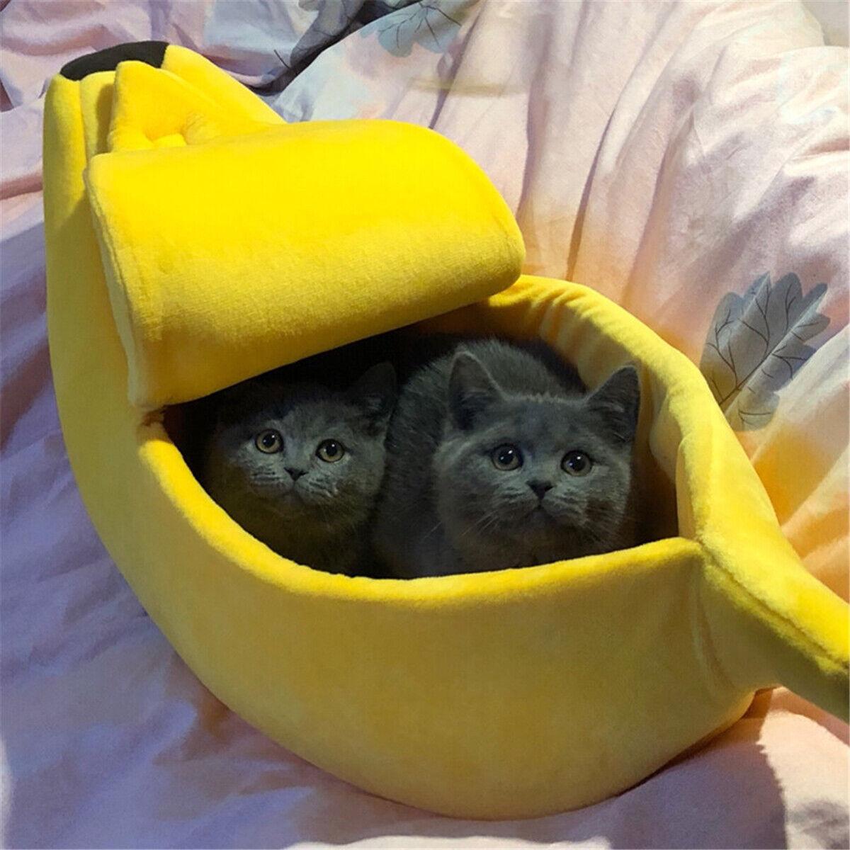 Banana Shape Pet Dog Cat Bed House Mat Durable Kennel D