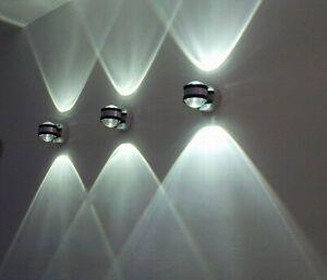 6w led wandleuchte wandlampe wei modern flurlampe wandlampe treppenhaus lampe ebay. Black Bedroom Furniture Sets. Home Design Ideas