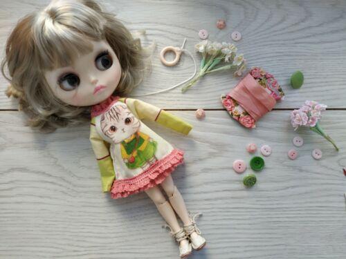 licca mini dress cat  for Neo Blythe Blythe Elfdoll Hana,Skipper Ruruko