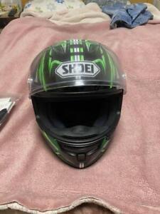 NEW-SHOEI-full-face-helmet-X-FOURTEEN-YANAGAWA5-TC-4-GREEN-BLACK-Size-L-59-60cm