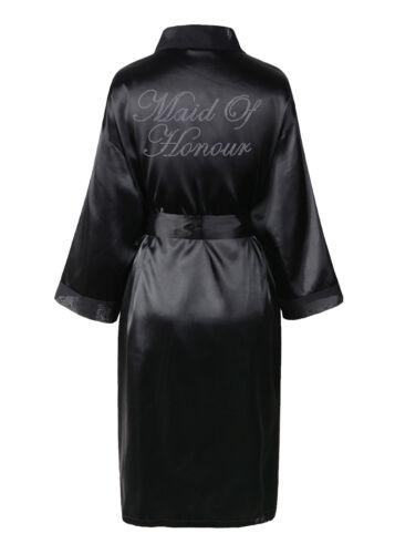 in sposa da con Kimono Abito vestaglia vestaglia strass raso e R1wqx