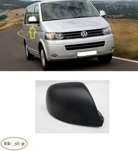 VW Multivan T5 2009-2015 nouvelle Aile Coque Rétroviseur Casquette Noir Droit O//S DRIVER