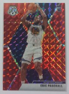 2019-20-Panini-Mosaic-250-ERIC-PASCHALL-Warriors-RC-RED-MOSAIC-PRIZM