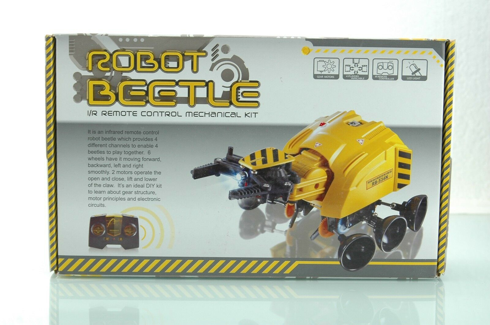 Elenco 21-534N IR Remote Control Robot Beetle Building Kit FOR CHARITY