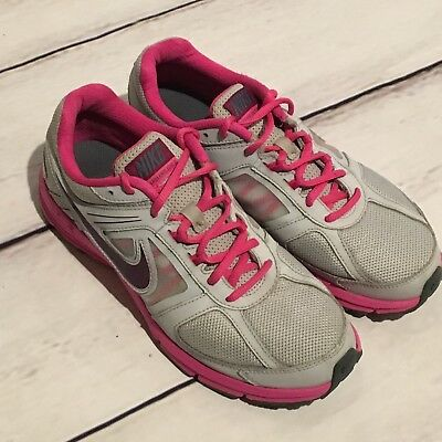 Womens Nike Air Relentless 3 Running Shoes size 8.5 EUC Gray Pink Athletic Nice! | eBay