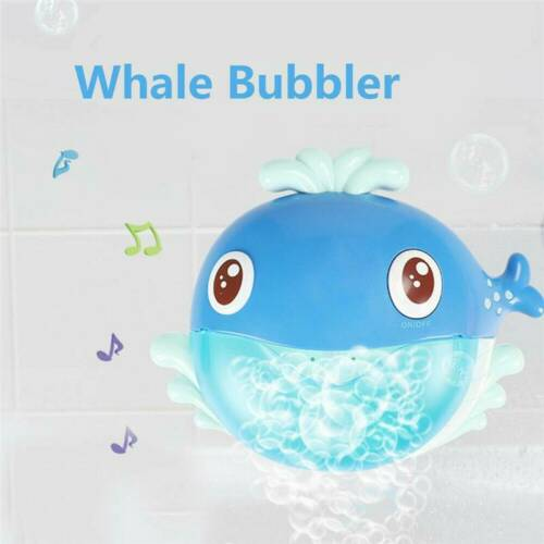 Whale Cartoon Musical Bubble Maker Blower Machine Bath Fun Toy Gift For Kid Baby