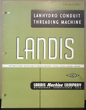 Brochure Lanhydro Conduit Threading Machine Landis Machine Company