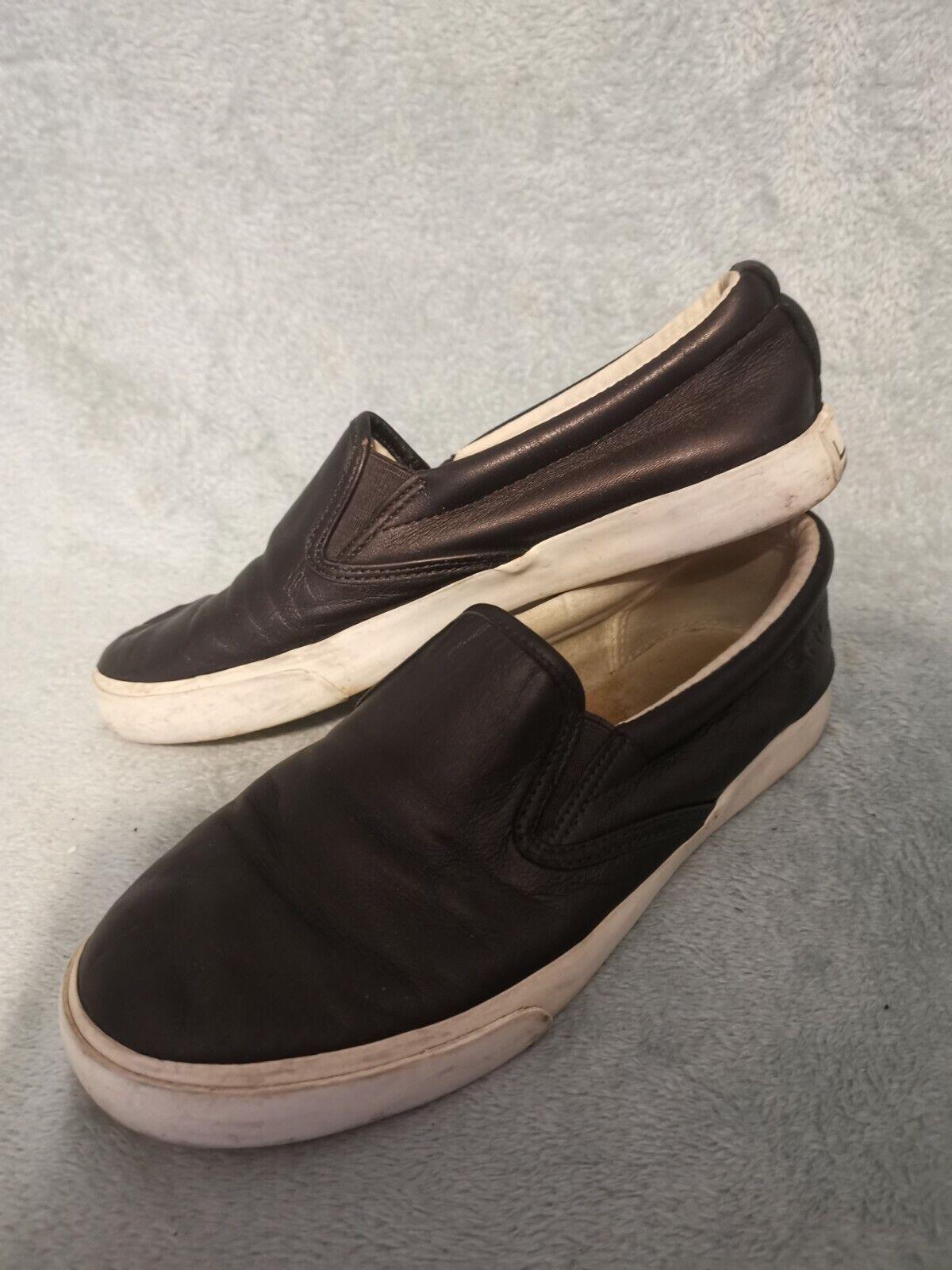 Leather Ralph Lauren UK 6 Slip On Trainers 👽