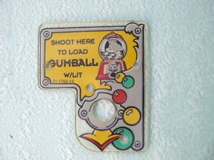 Pinball Twilight Zone original playfield Plastic 8 Bally Flipper