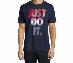 0de016509674 NEW Nike Men s Just Do It Tee Shirt 916986-451 SIZE M NAVE BLUE ...