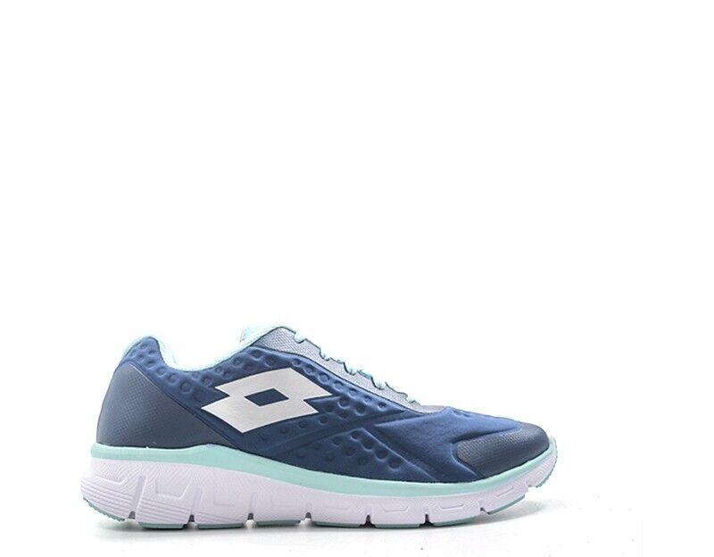 shoes LOTTO women Running  blue PU,Tessuto T6131