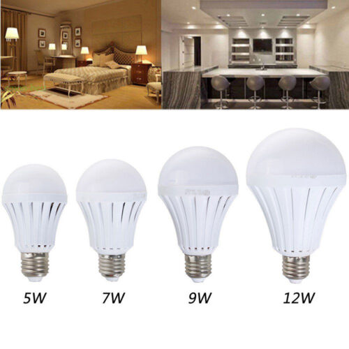 HOT E27 Rechargeable White LED Emergency Camping Hunting Light Bulb Lamp 5//7W