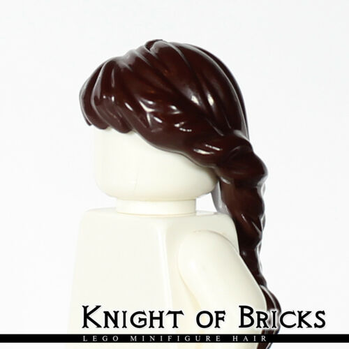 LEGO Minifigure Hair DARK BROWN 88286 Female Girl Ponytail Long French Braided