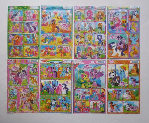 My Little Pony Equestria girls Glitter Sticker Sheet 4x6/'/' 10x15cm