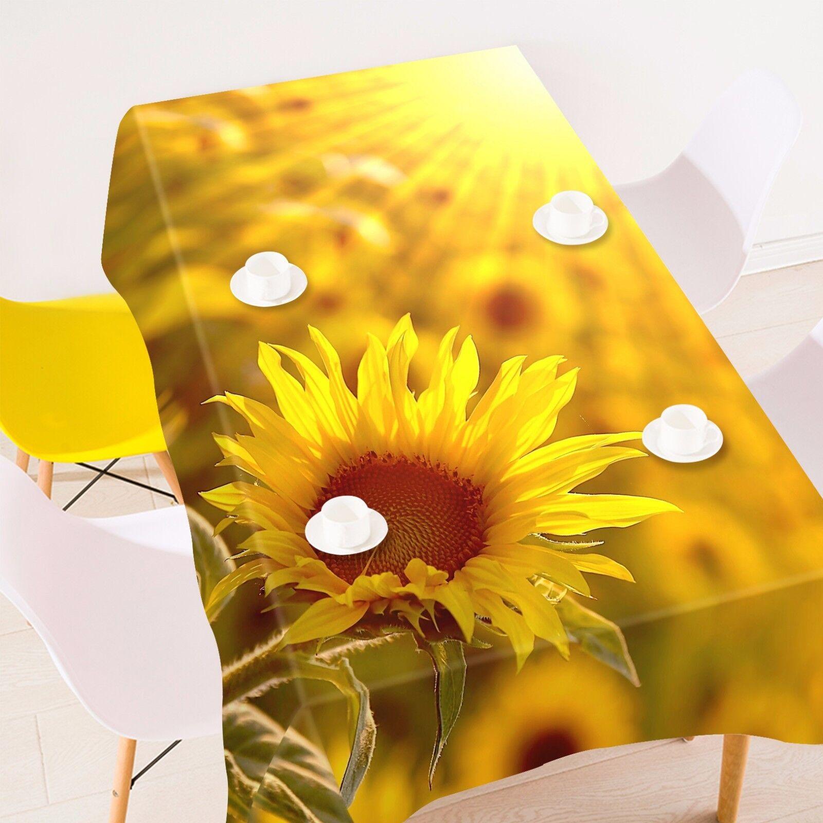 3D Sun Flower 9 Nappe Table Cover Cloth Fête D'Anniversaire événement AJ papier peint UK