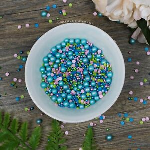 Touch of Turquoise Sprinkles Mix Cupcake  Cake Decorations