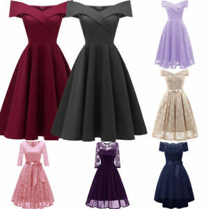 Women Bodycon Evening Party Dress Wedding Bridesmaid Prom Short Long Ball Gown