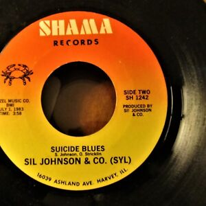 CHICAGO-BLUES-4-SIL-JOHNSON-amp-CO-SYL-Suicide-Blues-Steppin-SHAMA-SH-1242