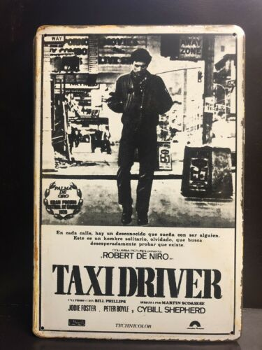 TAXI DRIVER 1976 MOVIE POSTER SMALL METAL SIGN GARAGE DECOR  20x30 Cm R DE NIRO