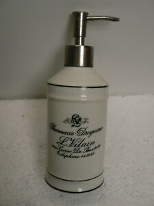 Vintage-Classic-French-Pharmacie-Droguerie-L-Vilain-Large-Bath-Canister