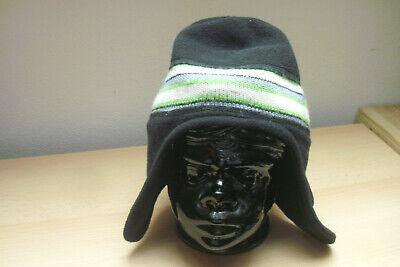 ***schwarze Damen Oder Kindermütze Aus Fleece Für Kopfumfang 55-57cm***