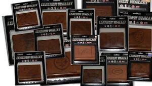 NFL-Tri-Fold-Tan-Leather-Wallets-All-Teams-Official-Licensed-Pick-Your-Team