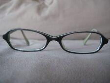 Fairfax grey w/ black and white stripe detail eyeglasses frames 47-16-145 Japan