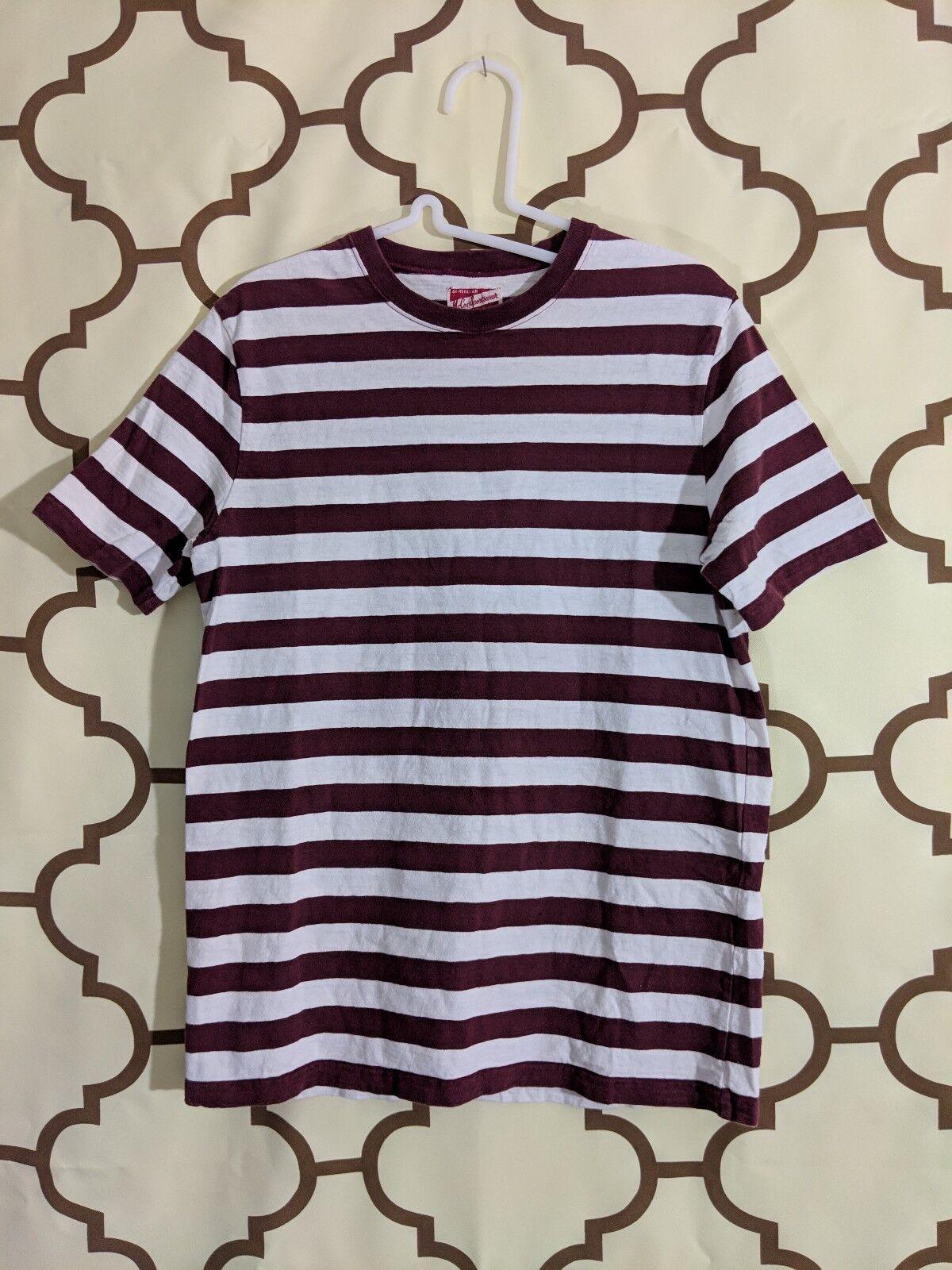 Real McCoys sportwear Striped SS Crewneck hemd Größe 40R